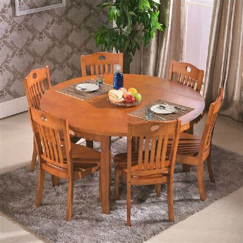 solid wood dining table folding small apartment
