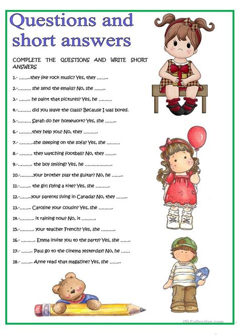Questions About Resources You Must The Answers To by Questions And Answers Worksheet Free Esl Printable
