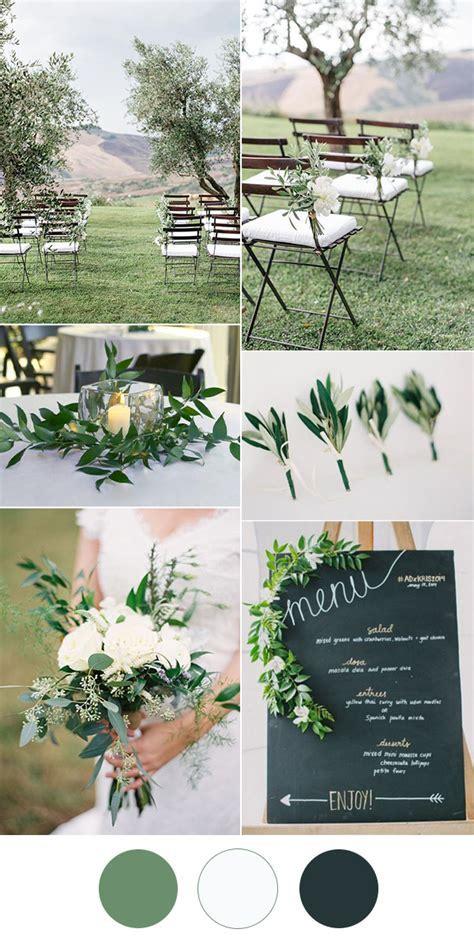 Easy DIY Greenery Minimalism Wedding Ideas with Color