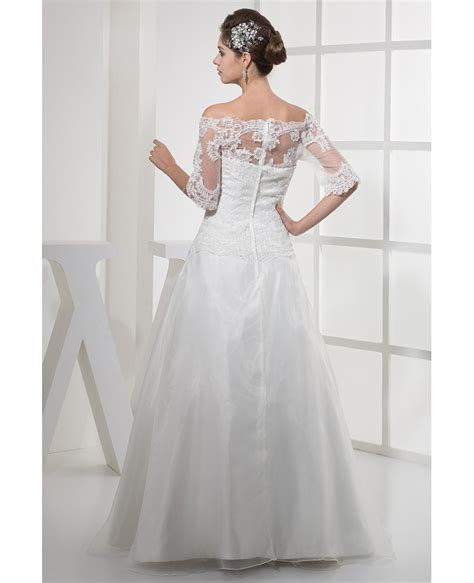 Tulle Sleeve Lace Dress lace half sleeves tulle wedding dress oph1120 260 9