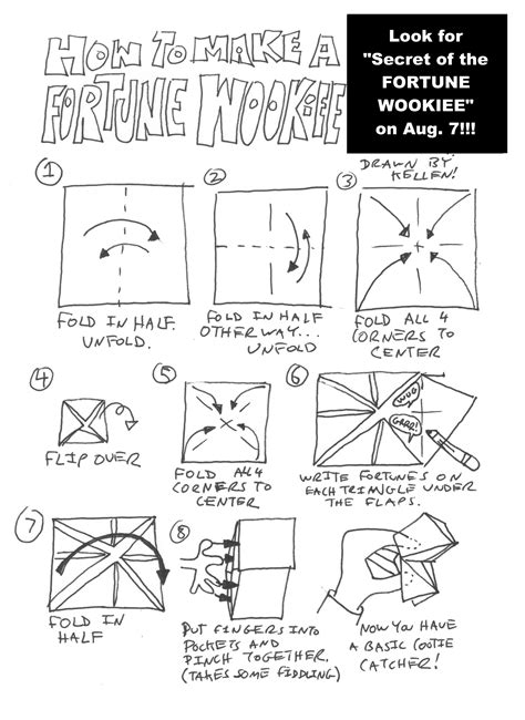 Origami Chewbacca Finger Puppet - make your own fortune wookiee origamiyoda