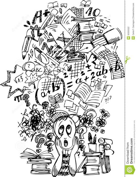 Busy Busy Doing Lots Of Writing Lots Of Shoppin by Busy Stressed Schoolboy Stock Photography Image