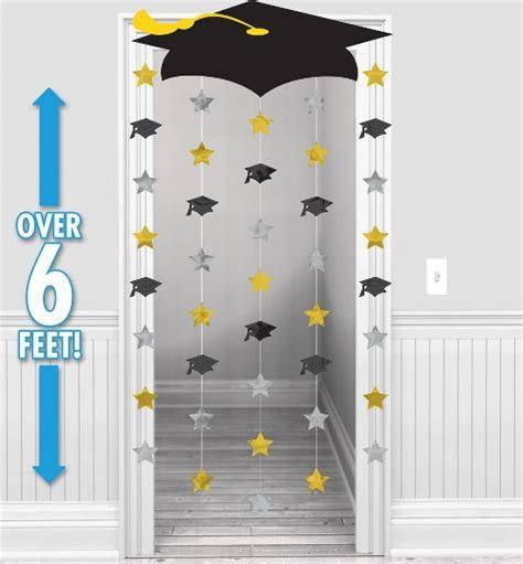 tema para graduacion biblica black gold silver graduation doorway curtain