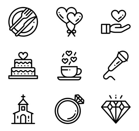Wedding Font Icon free vector icons svg psd png eps icon font