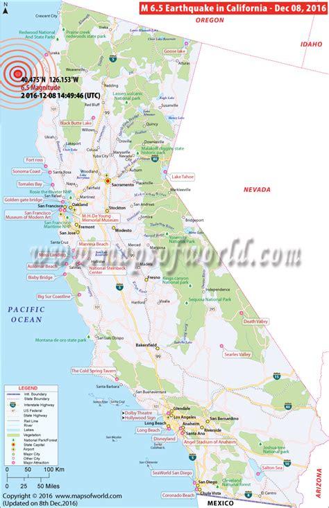 earthquake mp california earthquake map area affected by earthquake in