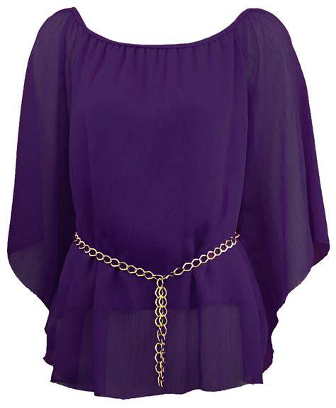 Top Purple chiffon purple blouse blouse styles