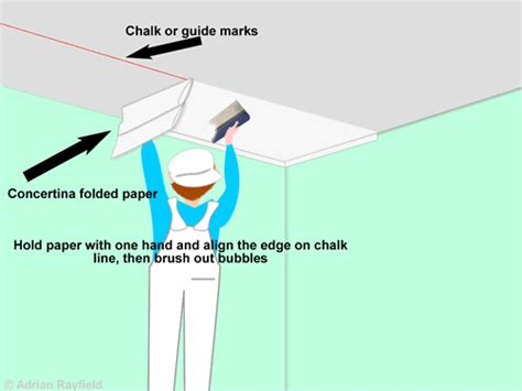 Papering A Ceiling how to paper a ceiling painting decorating and home