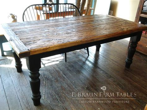 e braun farm tables high character spruce farm table with 5 quot turned legs