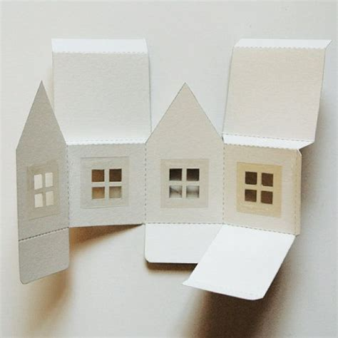 paper house template paper house luminaries printable template graphics and