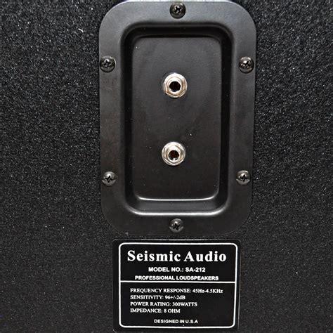 empty guitar speaker cabinets seismic audio 212 empty guitar speaker cabinet 2x12