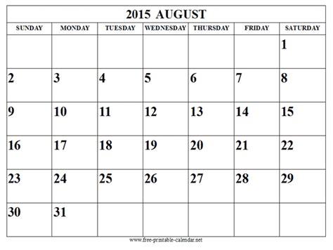 Calendar July August 2015 August 2015 Calendar Page