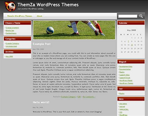 drupal soccer theme football mania wordpress 171 free wordpress theme free