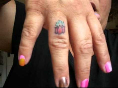lotus flower finger tattoo new finger lotus flower