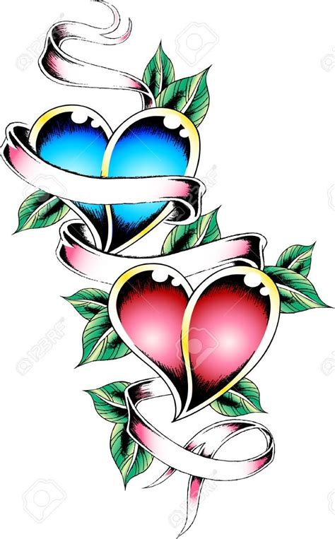 heart with ribbon tattoo designs with ribbon designs www pixshark