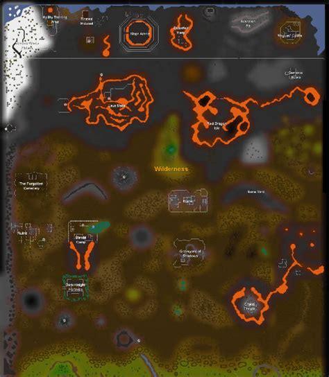 osrs runescape wilderness map maps of runescape