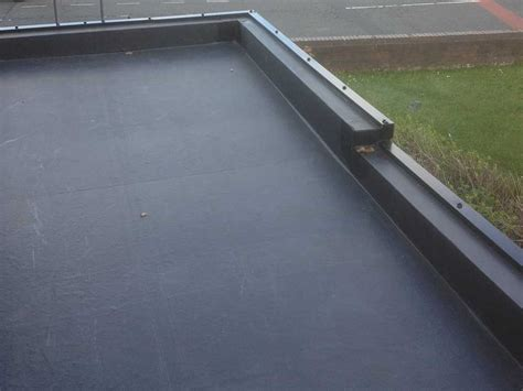 new epdm flat roof installed rubber roof installation cost company replacement