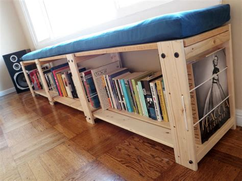 Bookshelf Bench | top 10 most popular ikea hacks ever lifehacker australia