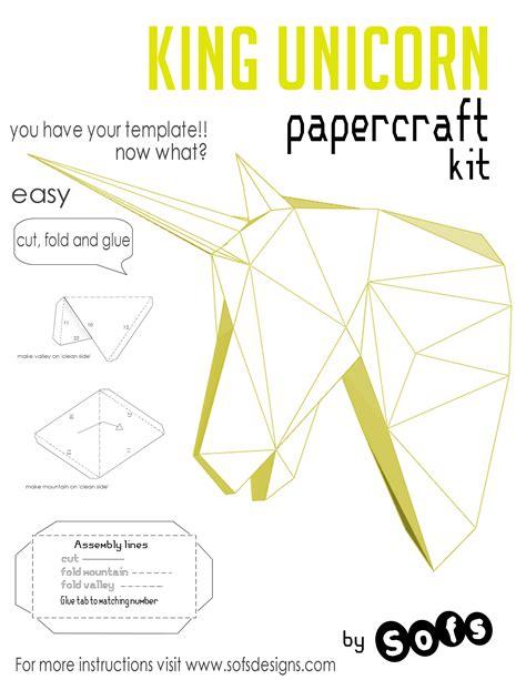 3d Paper Unicorn Template