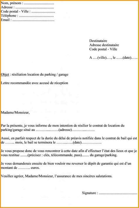 Modele Lettre Résiliation De Bail Québec Exemple Preavis Logement Non Meuble Document