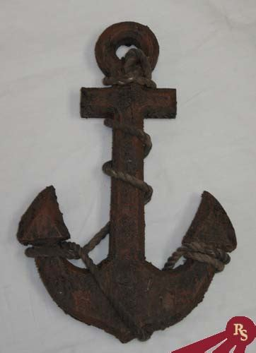 boat anchor rope wood wall anchor nautical display