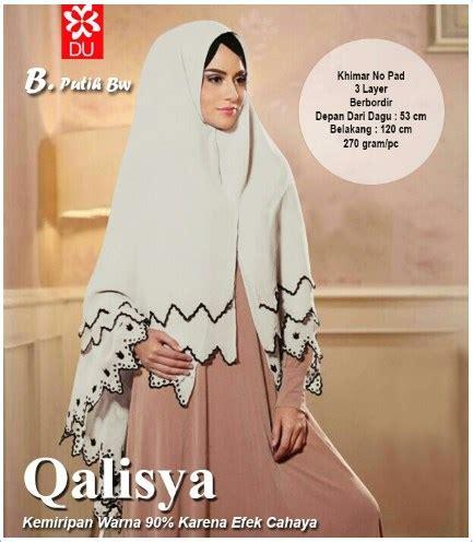 Jilbab Khimar Putih jilbab terbaru manis bahan ceruty