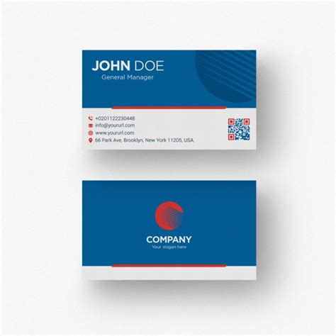 blue business card template psd blue business card psd file free