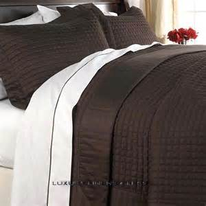 Coverlet Sets King Hotel 400tc Egyptian Cotton Brown Chocolate Quilt Coverlet