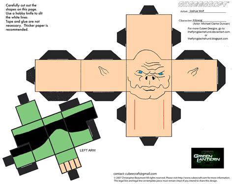 Green Lantern Papercraft - dcf8 green lantern kilowog cubee by theflyingdachshund