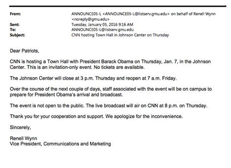 Invitation Letter Town Meeting Cnn Obama Town On Gun Confirmed To Be Propaganda Event U S Politics