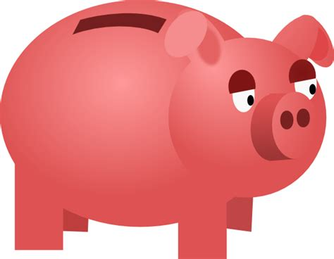 Piggy Bank Clipart Free piggy bank clip at clker vector clip royalty free domain
