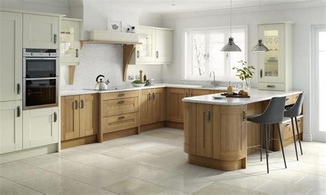 broadoak natural contemporary wood kitchen in oak