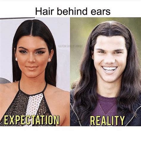 how to keep hair behind ears 25 best memes about reality reality memes