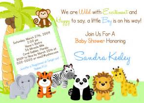 Safari Themed Baby Shower Invitation Templates jungle safari invitations