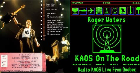 Kaos I Wish You Were Here pink floyd roger waters kaos on the road 11 7 1987 live