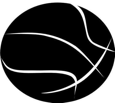basketball clipart black and white black basketball with white outline clip at clker