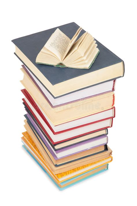 the literature book big big stack of books and opened small book stock photo image 4386084