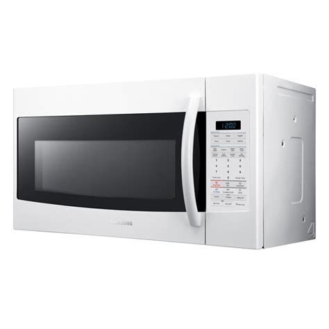 samsung the range microwave samsung smh1816w xaa 1 8 cuft the range microwave 1100 watts 10 power levels stainless