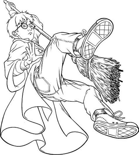 coloring page quidditch coloriage harry potter 2 224 colorier allofamille