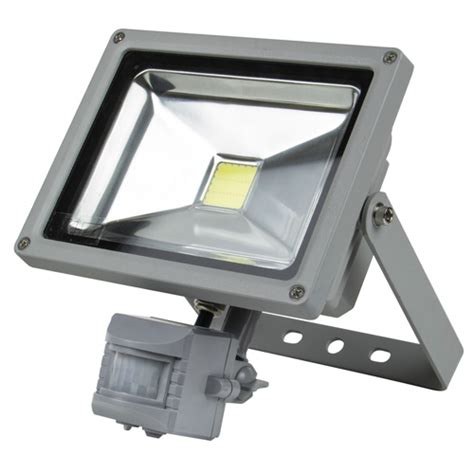 Micromark Outdoor Lighting 06471 Wall Mounted Smd Led Floodlight 20w Pir