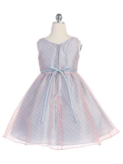light blue organza light blue polka dot organza dress w bow
