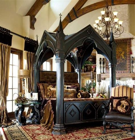 unique canopy bed the ultimate gothic bed frame reference book scenery