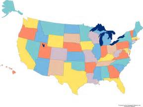 colored united states map united states blank map