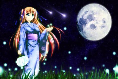 imagenes anime luna fondo escritorio anime chica y luna