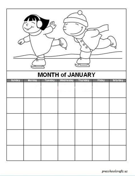 coloring pages for the month of january preschool crafts