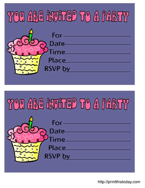free printable birthday invitations new calendar template site