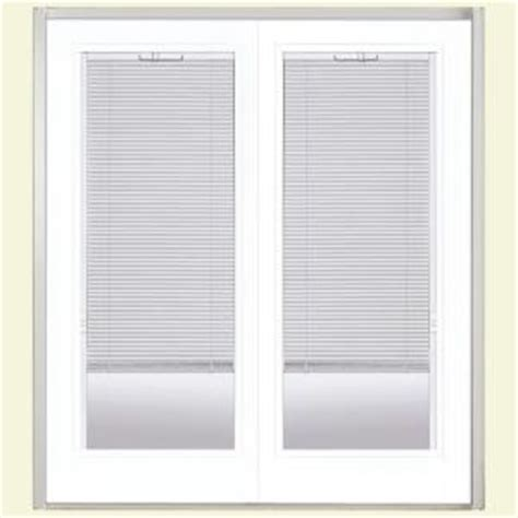 Blinds For Patio Doors Home Depot by Masonite Steel Patio Door With Blinds Between Glass At