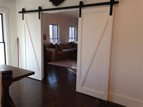 Traditional Floor Plans by Modern Z Brace Panel Barn Door
