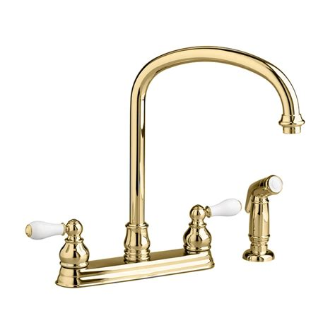 brass kitchen faucets moen polished brass kitchen faucets