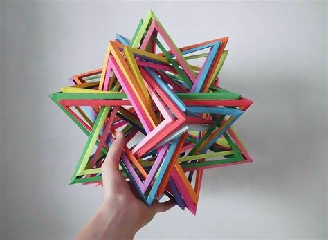 Interlocking Origami - interlocking origami and prisms by byriah loper