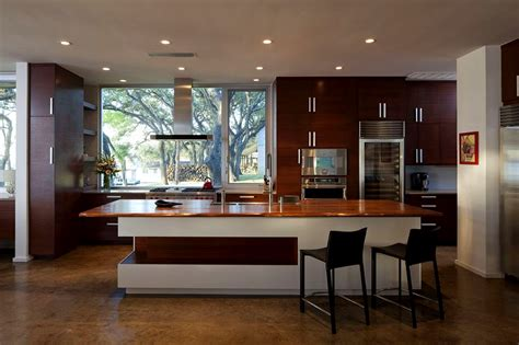 modern kitchen interior design contemporary wooden material kitchen design